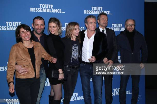 Team of the movie Marilyne Canto Frederic Quiring Jeanne Bournaud Sylvie Testud Franck Dubosc Michel Denisot and Laurent Bateau attend the Toute...