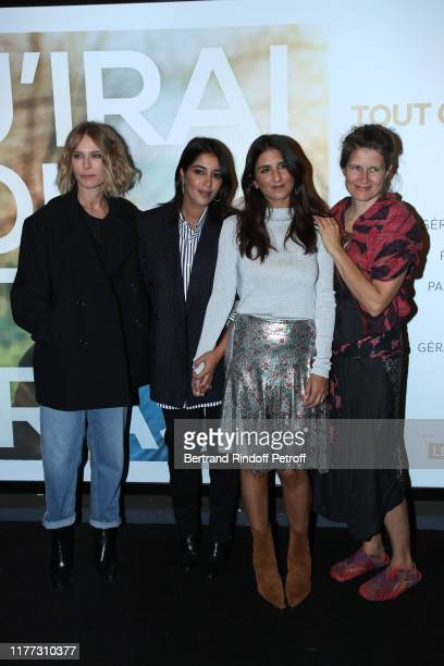 Team of the movie Pascale Arbillot Leila Bekhti director Geraldine Nakache and singer Camille Dalmais aka Camille attend the J'irai ou tu iras...