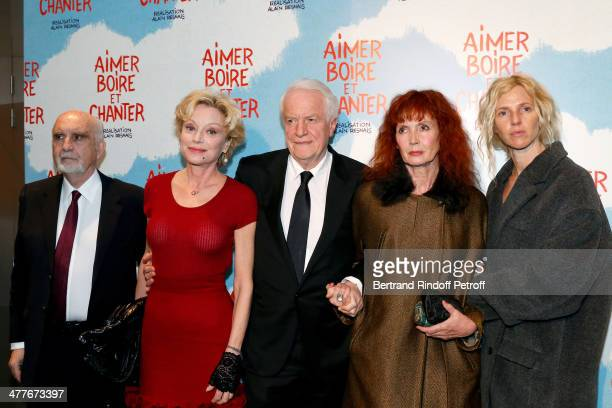 Team of the movie Producer JeanLouis Livi his wife Caroline Silhol Andre Dussollier Sabine Azema and Sandrine Kiberlain attend the 'Aimer Boire Et...