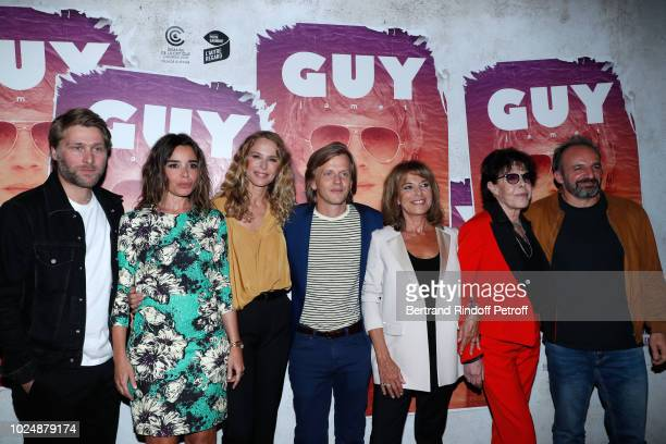 Team of the movie Tom Dingler Elodie Bouchez Pascale Arbillot director of the movie Alex Lutz Nicole Calfan Dani and David Salles attend the Guy...