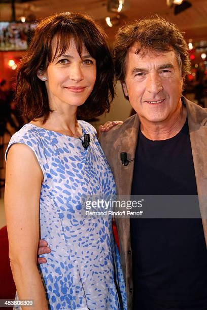 Team of the movie 'Une Rencontre' actors Sophie Marceau and Francois Cluzet attend the 'Vivement Dimanche' French TV Show at Pavillon Gabriel on...