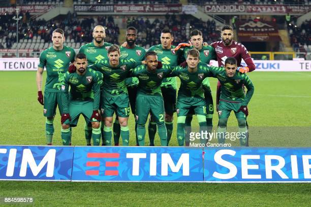 Team of Torino FC line up before the Serie A football match between Torino Fc and Atalanta Bergamasca Calcio Players of Torino Fc wear a special...