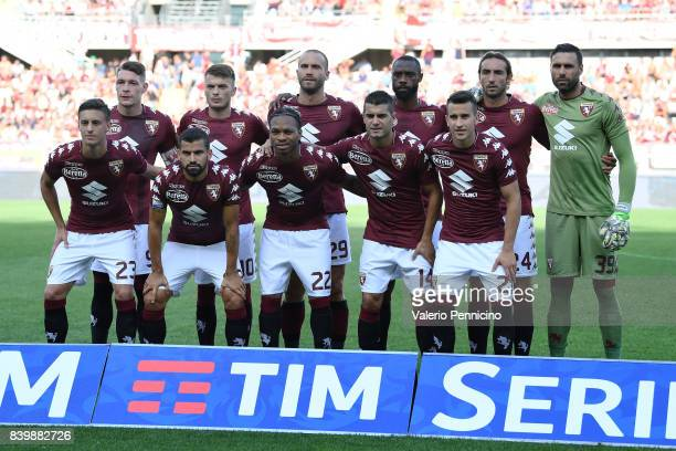 Team of Torino FC line up during the Serie A match between Torino FC and US Sassuolo FC at Stadio Olimpico Grande Torino on August 27, 2017 in Turin,...