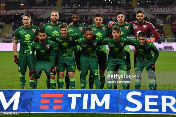 Team of Torino FC line up during the Serie A match between Torino FC and Atalanta BC at Stadio Olimpico di Torino on December 2 2017 in Turin Italy