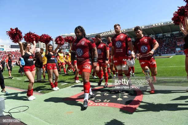 Team of Toulon during the French Top 14 match between RC Toulon and Castres at Felix Mayol Stadium on April 28 2018 in Toulon France