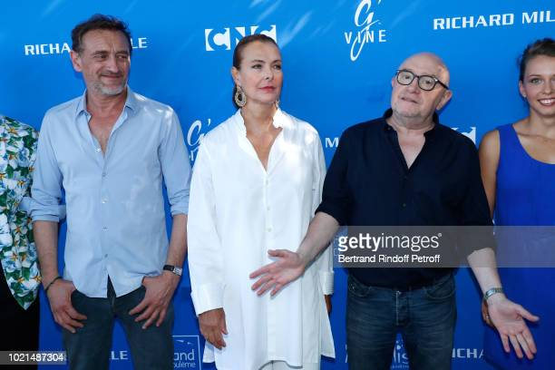 Team of Voyez comme on danse JeanPaul Rouve Carole Bouquet and director Michel Blanc attend the 11th Angouleme FrenchSpeaking Film Festival Day Two...