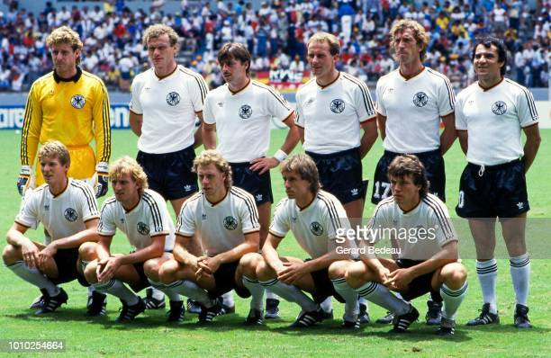 Team of West Germany FRG during the World Cup semi final match between West Germany FRG and France played in Guadalajara Mexico on june 25th 1986