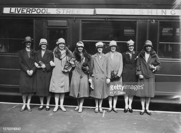 Team of Women Amateur Athletes leave Liverpool Street Station in London for Berlin in Germany, to compete in an athletic meeting, circa 1927. From...