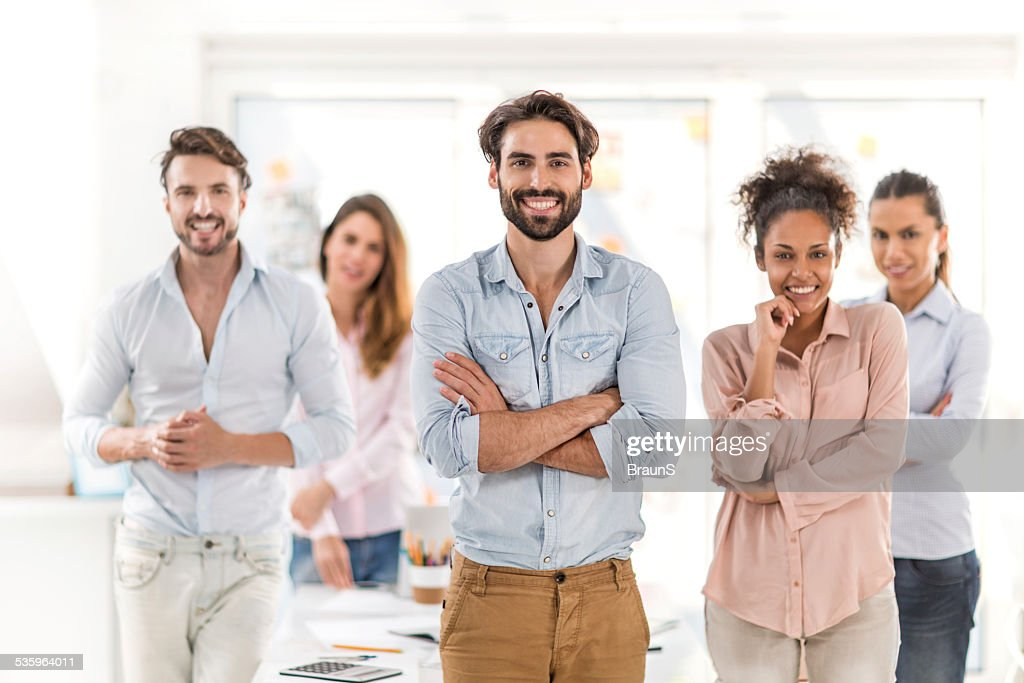 Team of young creative people. : Stock Photo