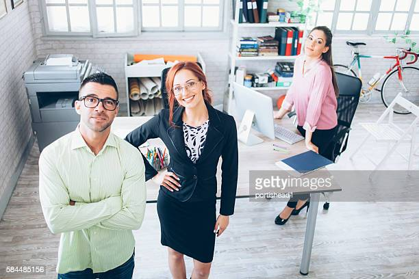 Team of young people at workplace