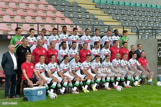 Team OHL pictured during the official team photo of OudHeverlee Leuven in Leuven Belgium UP LR Lenaerts Yves Urosevic Slobodan Bostock John Kostovski...