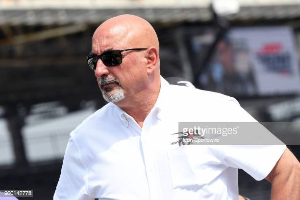 Team owner Bobby Rahal looks on during qualifying for the Indianapolis 500 on May 19 at the Indianapolis Motor Speedway in Indianapolis Indiana