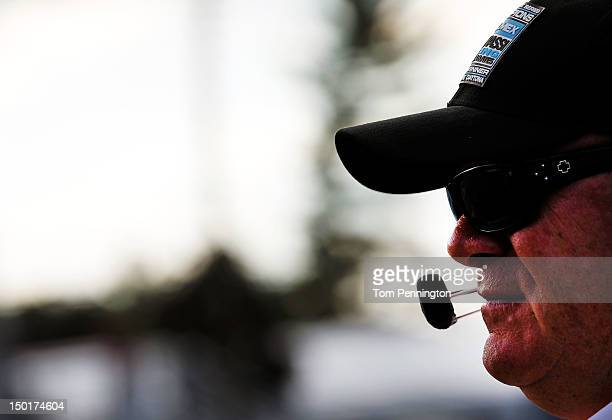 Team owner Chip Ganassi of the BMW Riley driven by Scott Pruett and Memo Rojas looks on prior to the start of the GrandAm Rolex Sports Car Series...