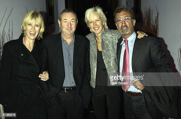 Team owner Eddie Jordan and his wife Marie with former Pink Floyd musician Nick Mason and his wife Nettie attend the 21st Birthday Party for Theo...