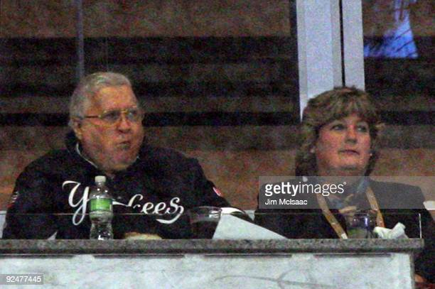 Team owner George Steinbrenner and his wife Joan watch the New York Yankees play against the Philadelphia Phillies in Game One of the 2009 MLB World...