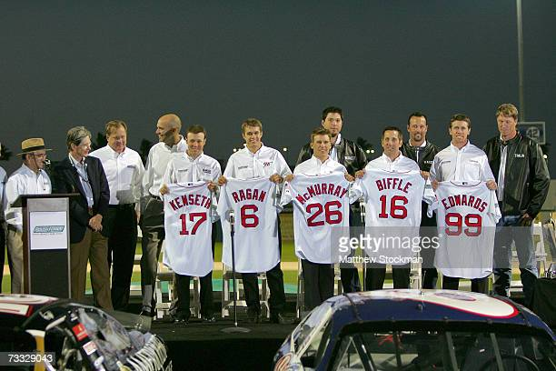 Team owner Jack Roush Boston Red Sox owner John Henry Matt Kenseth David Ragan Jamie McMurray Josh Beckett Greg Biffle Tim Wakefield Carl Edwards and...