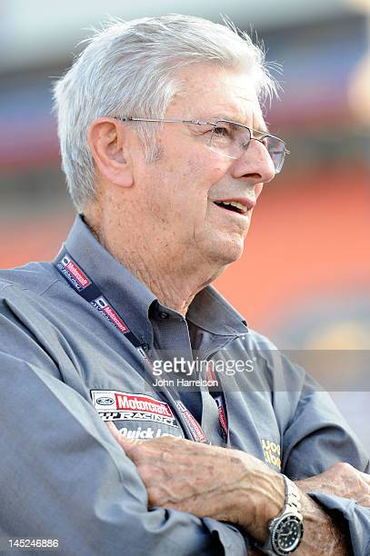 Team owner Leonard Wood stands on the grid during qualifying for the NASCAR Sprint Cup Series CocaCola 600 at Charlotte Motor Speedway on May 24 2012...