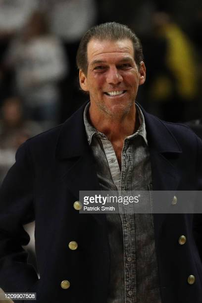 Team owner of the Baltimore Ravens Steve Bisciotti looks on as the Michigan State Spartans play the Maryland Terrapins at Xfinity Center on February...