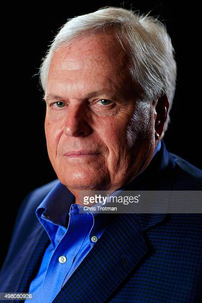 Team owner Rick Hendrick poses for a photo during the NASCAR Sprint Cup Championship 4 Media Day at Westin Diplomat on November 19 2015 in Hollywood...