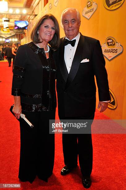 Team Owner Roger Penske and his wife Kathy arrive on the red carpet for the NASCAR Sprint Cup Series Champion's Awards at the Wynn Las Vegas on...