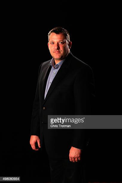 Team owner Tony Stewart poses for a photo during the NASCAR Sprint Cup Championship 4 Media Day at Westin Diplomat on November 19 2015 in Hollywood...