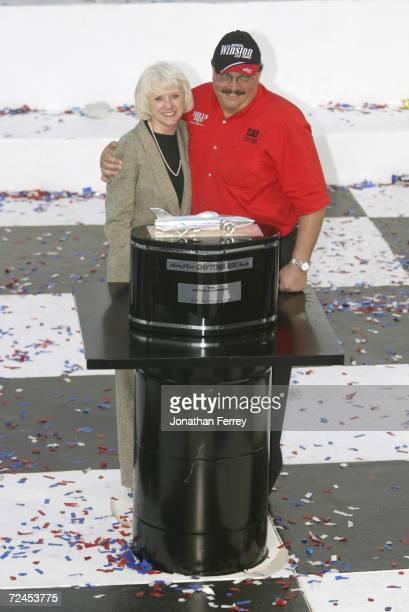 Team owners Bill and Gail Davis celebrate after Ward Burton driver of the Bill Davis Racing Dodge Intrepid RT won the 44th NASCAR Winston Cup Daytona...