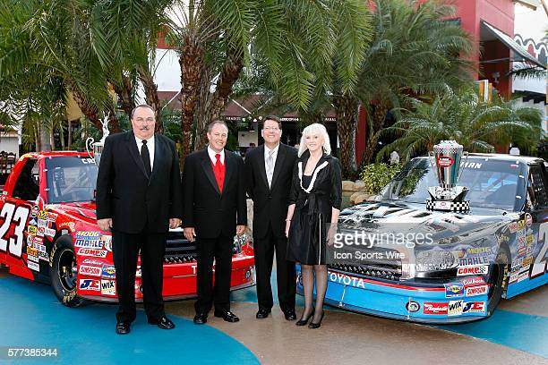 Team owners Bill and Gail Davis with Johnny Benson and crew chief Trip Bruce at the 2008 Nascar Craftsman Truck Series Championship Banquet Seminole...