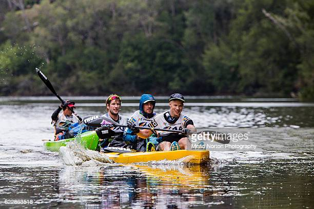 A team paddling dow the Clide River during the Adventure Race World Championship on November 11 2016 in Shoalhaven Australia