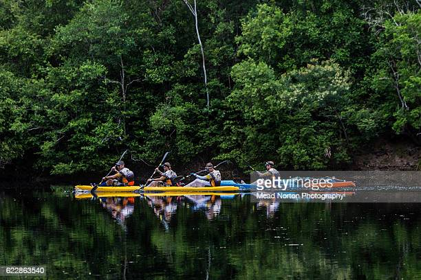 A team paddling down the Clide River during the Adventure Race World Championship on November 11 2016 in Shoalhaven Australia