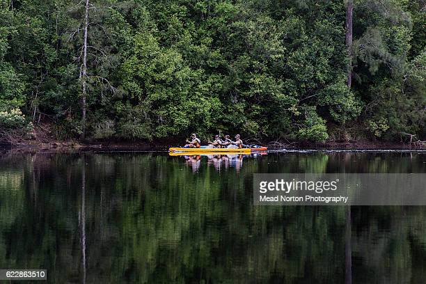 A team paddling down the Clyde River during the Adventure Race World Championship on November 11 2016 in Shoalhaven Australia