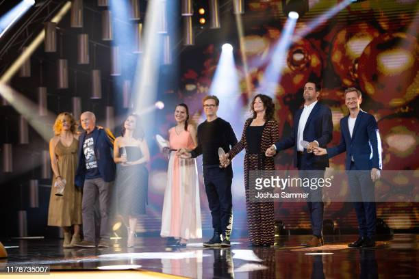 Team Pastewka receive their 'Special Award' during the 23rd annual German Comedy Awards at Studio in Köln Mühlheim on October 02, 2019 in Cologne,...