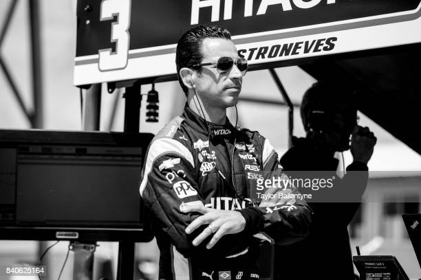 Team Penske driver Helio Castroneves is photographed for Sports Illustrated on August 19 2017 at Pocono Raceway Verizon IndyCar Series at Long Pond...