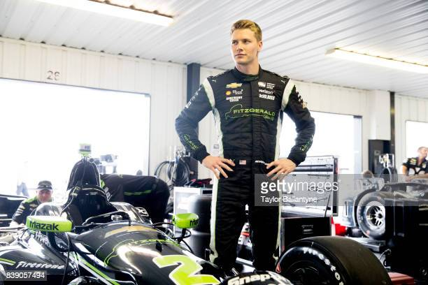 Team Penske driver Josef Newgarden is photographed for Sports Illustrated on August 18, 2017 at Pocono Raceway, Verizon IndyCar Series, at Long Pond,...