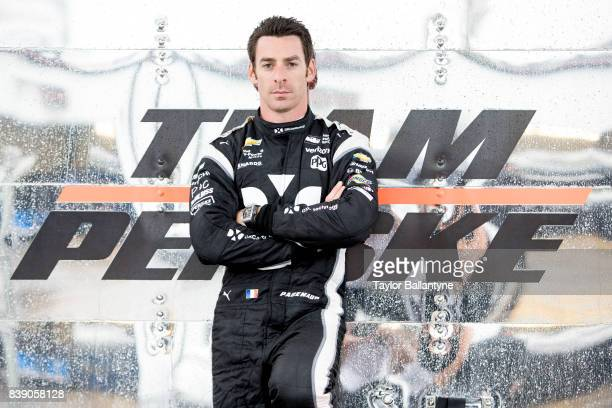 Team Penske driver Simon Pagenaud is photographed for Sports Illustrated on August 18, 2017 at Pocono Raceway, Verizon IndyCar Series, at Long Pond,...