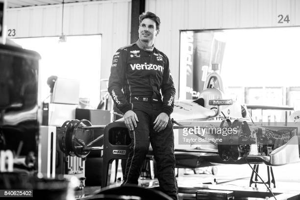 Team Penske driver Will Power is photographed for Sports Illustrated on August 19 2017 at Pocono Raceway Verizon IndyCar Series at Long Pond...
