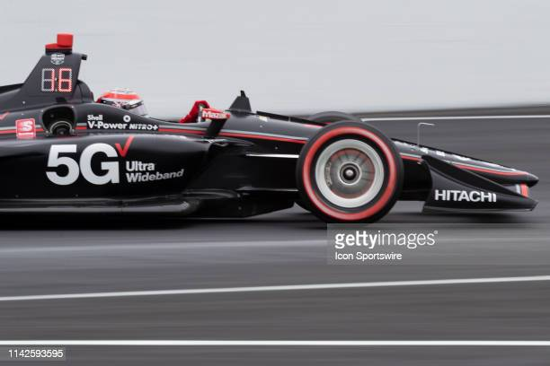 Team Penske driver Will Power of Australia in action during the IndyCar Grand Prix practice on May 10 at the Indianapolis Motor Speedway Road Course...