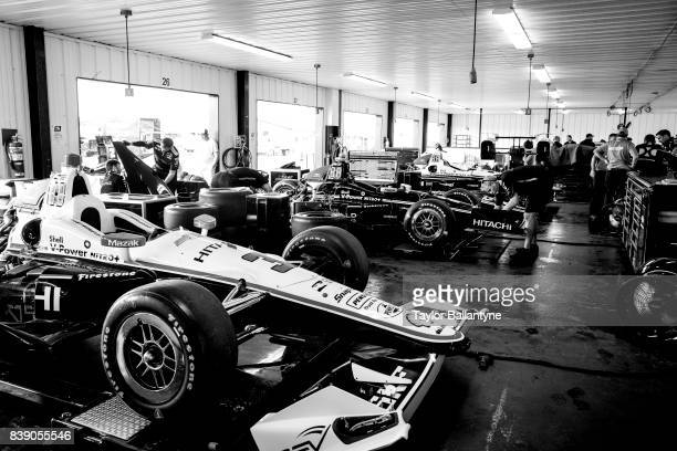 Team Penske's garage is photographed for Sports Illustrated on August 18, 2017 at Pocono Raceway, Verizon IndyCar Series, at Long Pond, Pennsylvania....