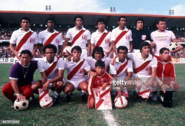 Team Peru during a presentation of team qualifying for the World Cup 1978 in Argentina on 28th December 1977