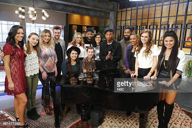THE VOICE 'Team Pharrell Battle Reality' Pictured Amy Vachal Siahna Im Amanda Preslar Jubal Lee Young Madi Davis Riley Biederer Evan McKeel Mark Hood...