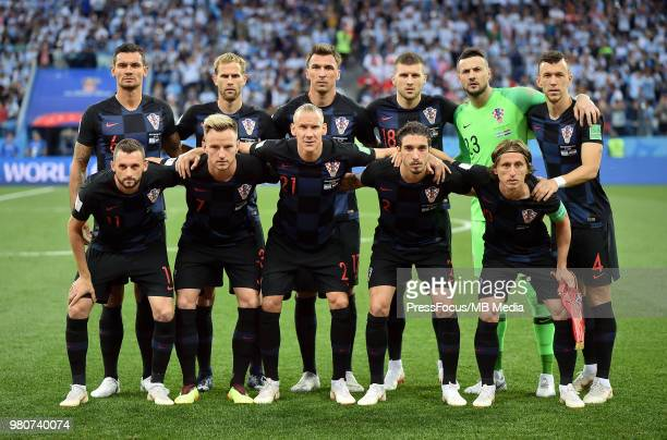 Team Photo Dejan Lovren of Croatia Ivan Strinic of Croatia Mario Mandzukic of Croatia Ante Rebic of Croatia Danijel Subasic of Croatia Ivan Perisic...