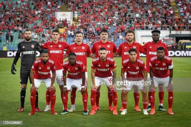Team photo of CSKA Sofia before 2021 Bulgarian Supercup final between Ludogorets /Razgrad/ and CSKA Sofia on 17 July, 2021 in Sofia, Bulgaria
