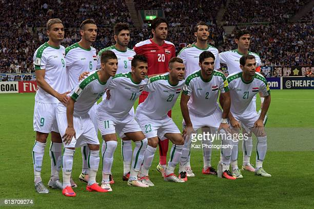 Team Photo of Iraq before the 2018 FIFA World Cup Qualifiers match between Japan and Iraq at Saitama Stadium on October 6 2016 in Saitama Japan