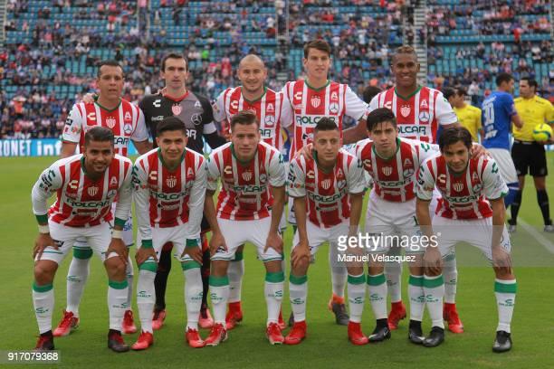 Team photo of Necaxa during the 6th round match between Cruz Azul and Necaxa as part of the Torneo Clausura 2018 Liga MX at Azul Stadium on February...