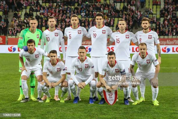 Team photo of Polish national team during International Friendly match between Poland and Czech Republic on November 15, 2018 in Gdansk, Poland.
