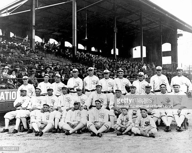 Team photo of the 1917 Chicago White Sox taken during the 1917 season at Comiskey Park in Chicago Illinois The top row Mellie Wolfgang Eddie Collins...