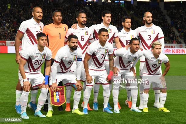 Team photo of Venezulea during the international friendly match between Japan and Venezuela at the Panasonic Stadium Suita on November 19 2019 in...