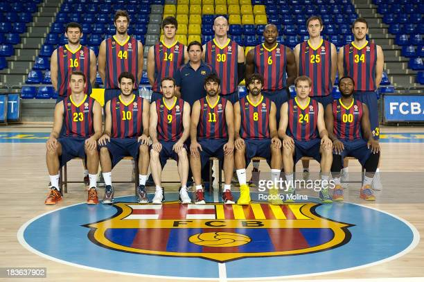 Team Picture during the FC Barcelona 2013/14 Turkish Airlines Euroleague Basketball Media Day at Palau Blaugrana on October 7 2013 in Barcelona Spain