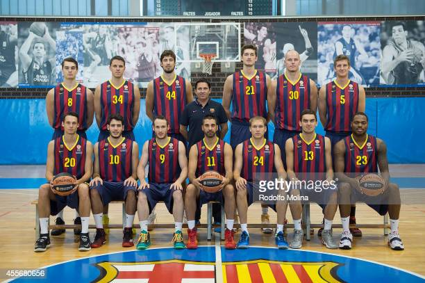 Team picture during the FC Barcelona 2014/2015 Turkish Airlines Euroleague Basketball Media Day at Ciutat Esportiva Joan Gamper on September 18 2014...