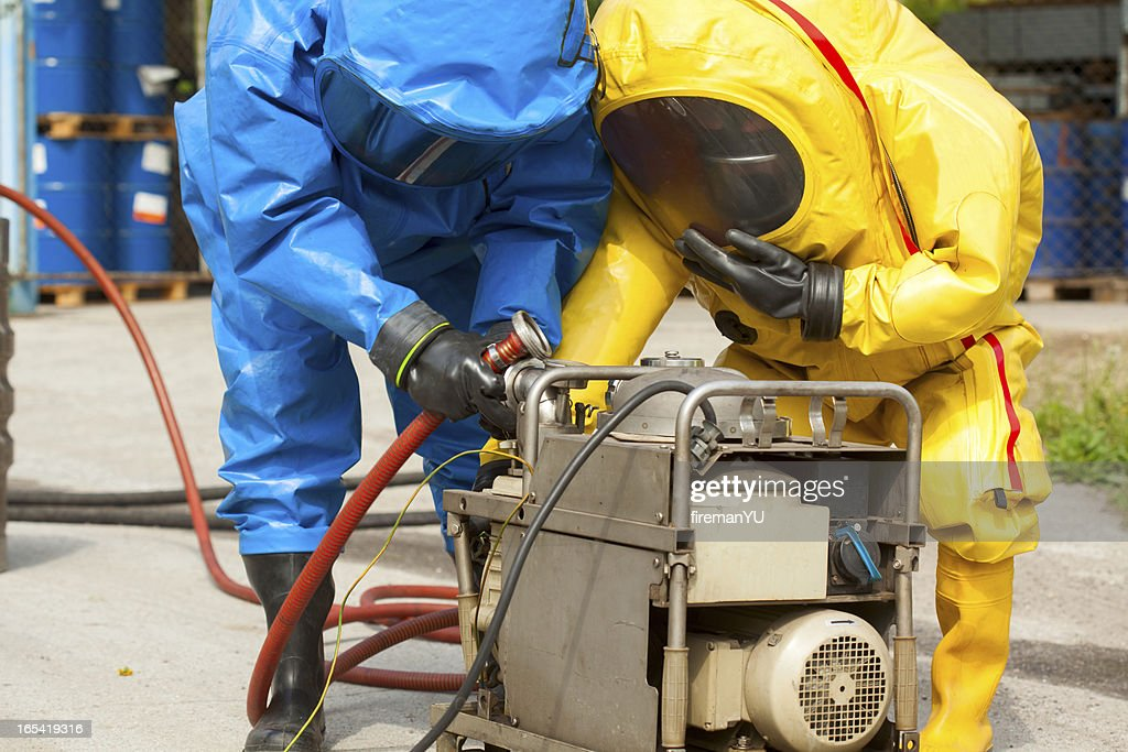 HAZMAT team : Stock Photo