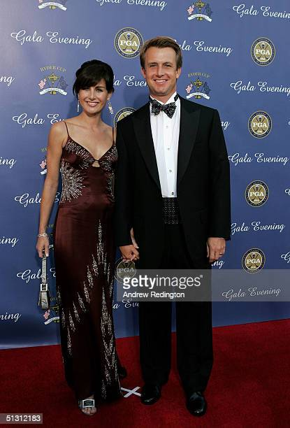 USA team player David Toms with his wife Sonya Toms arriving at the 35th Ryder Cup Matches Gala Dinner at the Fox Theater on September 15 2004 in...